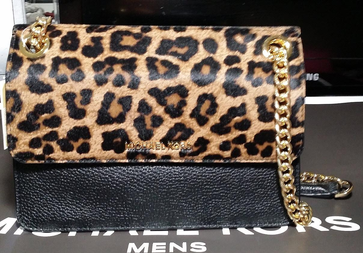 692d1bec4f814f ... best price michael kors leopard black gold whitney leather convertible  crossbody wallet tradesy b035a 88043