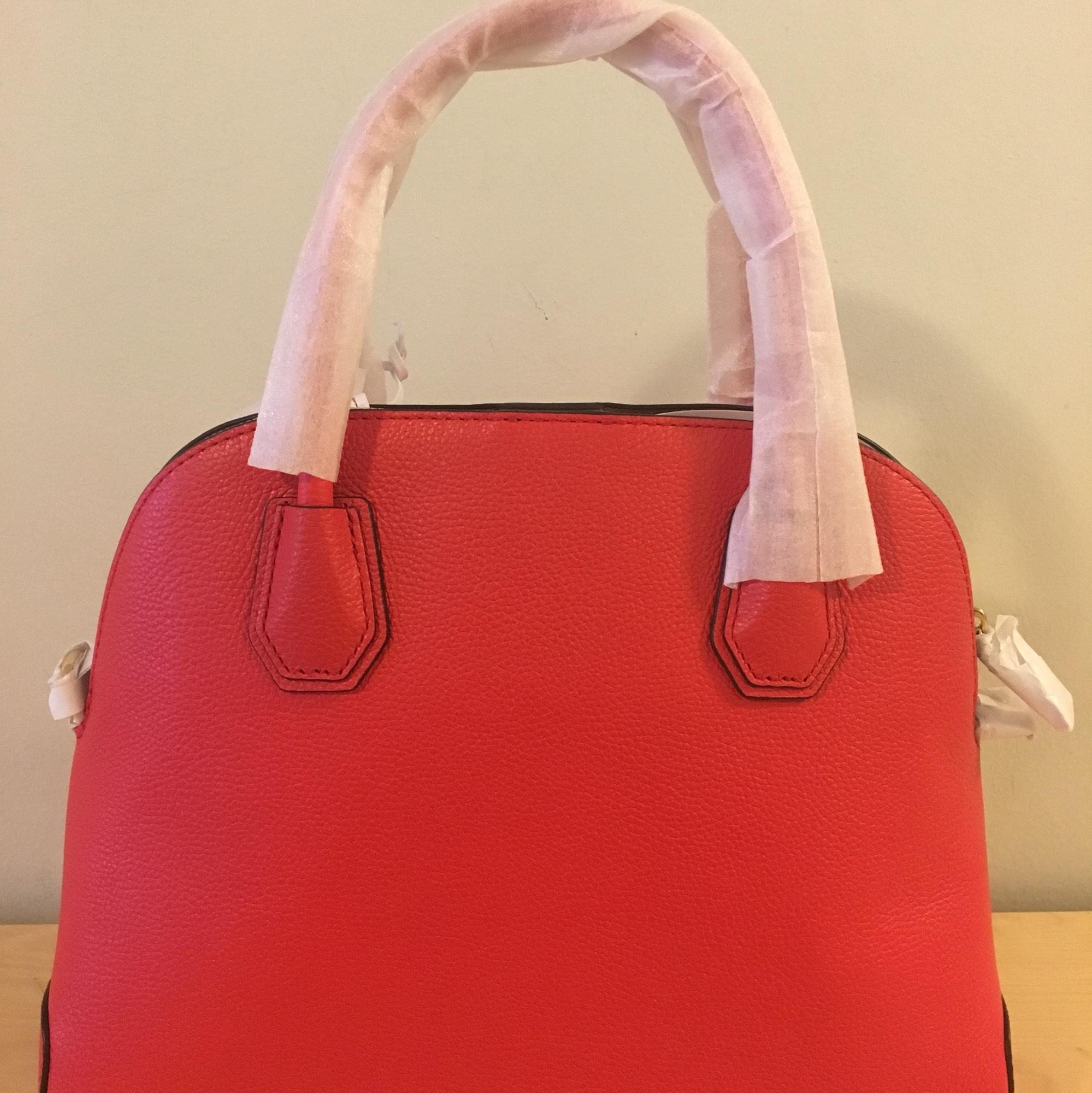 3e778d2f25393c ... bag e3df4 a252e free shipping michael kors mercer large dome satchel  red dk sangria pebbled leather baguette tradesy 755b0 ...