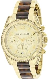 Michael Kors Michael Kors Blair Gold-tone Tort Chronograph Ladies Watch Mk6094