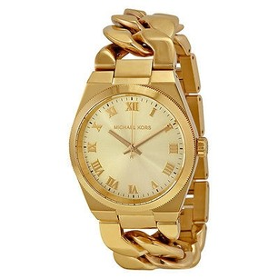 Michael Kors Michael Kors Channing Champagne Dial Gold-tone Ladies Watch