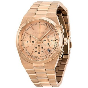 Michael Kors Michael Kors Channing Chronograph Rose Dial Rose Gold-tone Ladies Watch