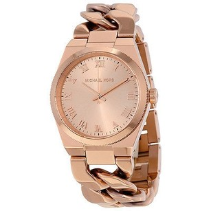 Michael Kors Michael Kors Channing Rose Dial Rose Gold-plated Twist Ladies Watch