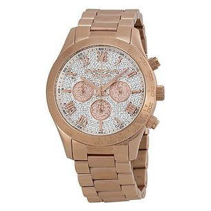 Michael Kors Michael Kors Layton Pave Dial Rose Gold-tone Ladies Watch