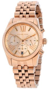 Michael Kors MICHAEL KORS Lexington Dial Rose Gold PVD Ladies Watch