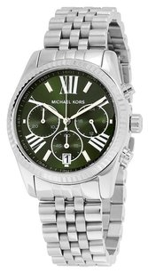 Michael Kors MICHAEL KORS Lexington Green Dial Stainless Steel Ladies Watch