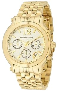 Michael Kors Michael Kors Madison Chronograph Champagne Dial Gold-tone Womens Watch