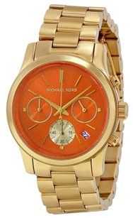Michael Kors Michael Kors MK6162 Women's Runway Orange, Gold Watch