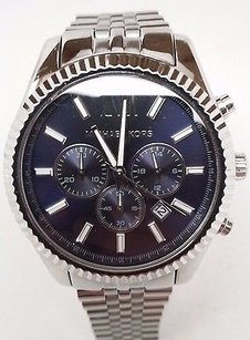 Michael Kors Michael Kors Mk8280 Lexington Chronograph Blue Sunray Dial Mens Steel Watch