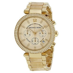 Michael Kors Michael Kors Parker Chronograph Champagne Dial Gold-tone Ladies Watch