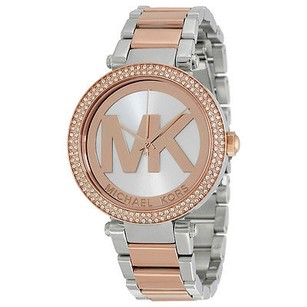Michael Kors Michael Kors Parker Rose Gold And Silver-tone Stainless Steel Ladies Watch