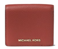 Michael Kors Michael Kors Bedford Carryall Leather Card Case Wallet - Brick