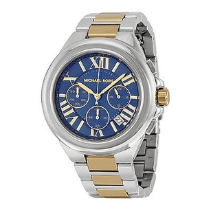 Michael Kors Michael Kors Camille Blue Dial Two Tone Ladies Watch