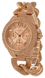 Michael Kors MICHAEL KORS WOMEN'S CAMILLE CRYSTAL ROSE TONE WATCH