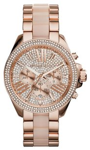 Michael Kors Michael Kors WOMENS WREN ROSE GOLD TONE GLITZ WATCH MK6096