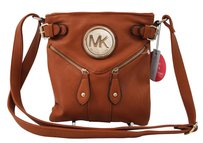Michael Kors Mk Emblem Double Zipper Shoulder Bag