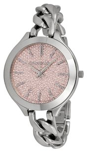 Michael Kors MK3357 MICHAEL KORS Slim Runway Pink Crystal Pave Dial Ladies Watch