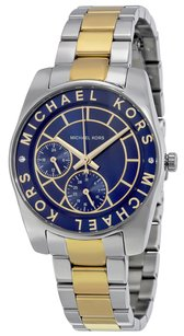 Michael Kors MK6195 Mini Ryland Blue Dial Two Tone Stainless Women's Watch