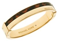 Michael Kors New Gold Tortoise Maritime Color-Block Hinge Bangle Bracelet