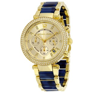 Michael Kors Parker Multi-Function Dial Gold-plated Tortoise-shell Ladies Watch