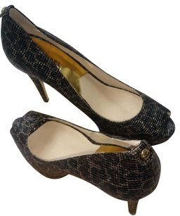 Michael Kors Peep-toe Size 9 Cheetah Brown Pumps