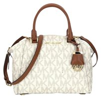 Michael Kors Riey Small Satchel in Vanilla