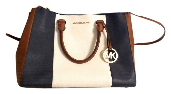 Navy Blue And White Michael Kors Purse
