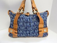 Michael Kors Mk Logo Satchel in Blue