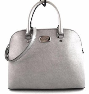 Michael Kors Leather Cindy Satchel in Gray