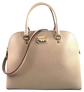Michael Kors Leather Cindy Satchel in Pink