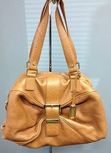 Michael Kors Michael Leather Gold Tone Logo Hardware B3194 Shoulder Bag