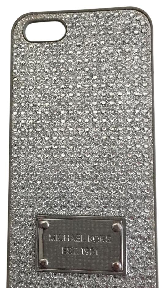 michael kors iphone 5 case michael kors silver pave crystals iphone 5 tech 3236