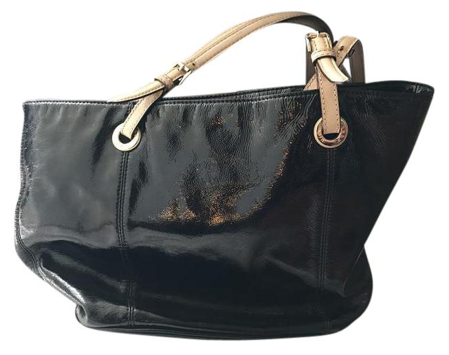Michael Kors Patent Leather Black Tote Bag on Sale, 70% Off ...