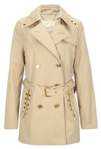Michael Kors Studded Trench Gold Hardware Trench Coat