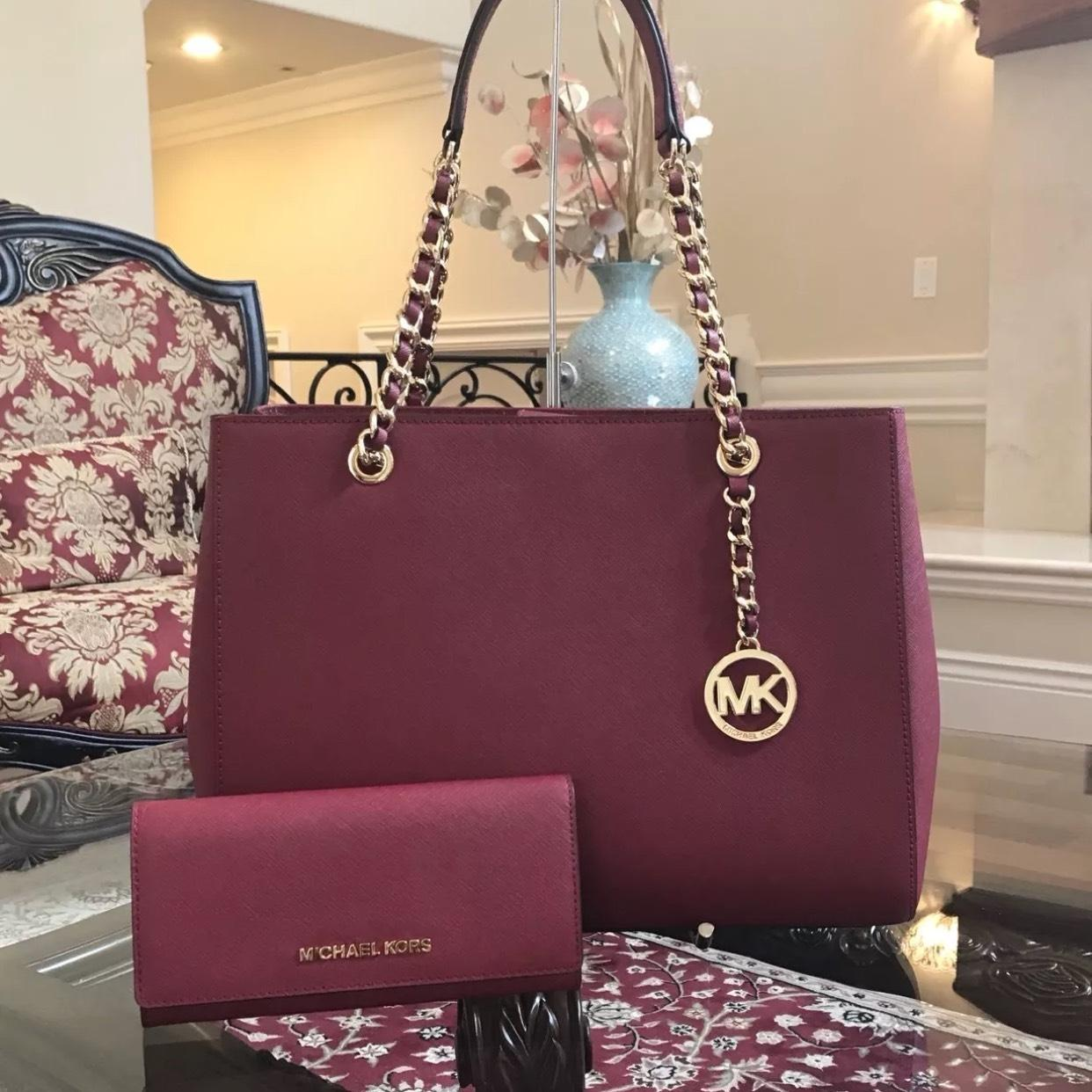 ecd62eec4b73 ... large drawstring tote black mk signature 41e56 953f8  usa michael kors  black saffiano leather chain susannah shoulder bag 0986b 0ca5a
