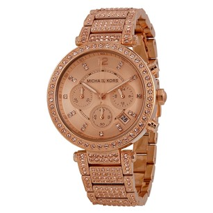 Michael Kors Uptown Glam Parker Chronograph Rose Gold-Tone Ladies Watch