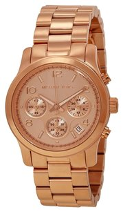 Michael Kors Women,s New Rose Gold-tone Chronograph Watch