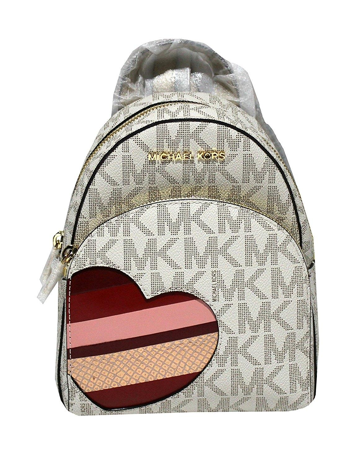 182a9edf2 ... best price michael michael kors abbey xs mini daypack cherry red  backpack a9042 8bc02
