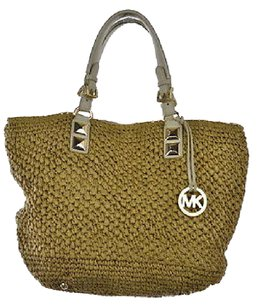 MICHAEL Michael Kors Brown Woven Textile Handbag Tote in Multi-Color