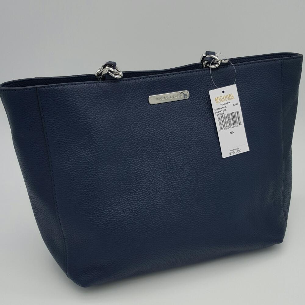 3f5e1d325064 ... where can i buy michael michael kors harper large pebble leather tote  in navy. 12345678