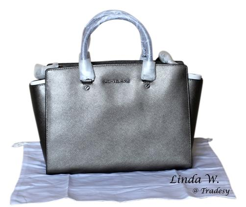 75b571d1335b czech michael michael kors leather hardware metallic removable strap chic  versatile structured classic functional satchel in
