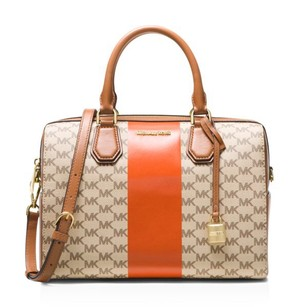 MICHAEL Michael Kors Satchel in Brown/Orange/Gold