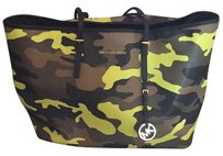 MICHAEL Michael Kors Tote in Camo W/ Lime