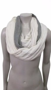 Michael Stars Michael Stars Double Down Eternity Scarf Gray White One