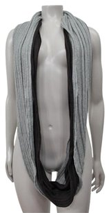 Michael Stars Michael Stars Brown Gray Knit Wrap Cotton Infinity Scarf