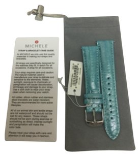 Michele NWT MICHELE tURQUOISE Patent 20mm MS20AB510441