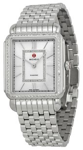 Michele MWW06X000001 Deco II Mother of Pearl Diamond Stainless Steel Ladies Watch