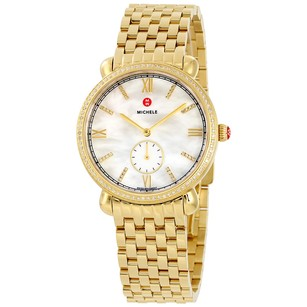 Michele Gracile Diamond Mother of Pearl Dial Ladies Watch