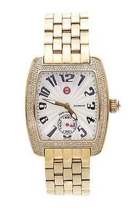 Michele Michele Gold-tone Stainless Steel Diamond Urban Mini Womens Watch