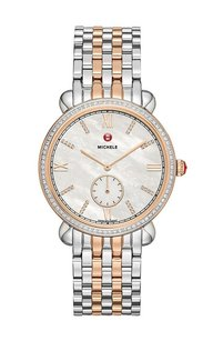 Michele MICHELE GRACILE TWO-TONE ROSE GOLD DIAMOND WOMEN'S WATCH