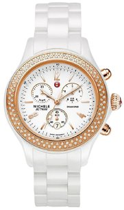 Michele MICHELE JETWAY DIAMOND WHITE CERAMIC SWISS CHRONO WOMENS WATCH